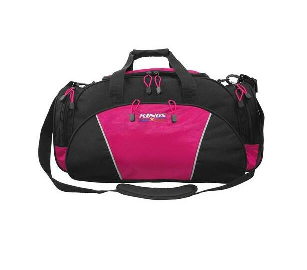 2629 Kings Urban gear Black/ Hot pink Dome shaped Travel Carry bag