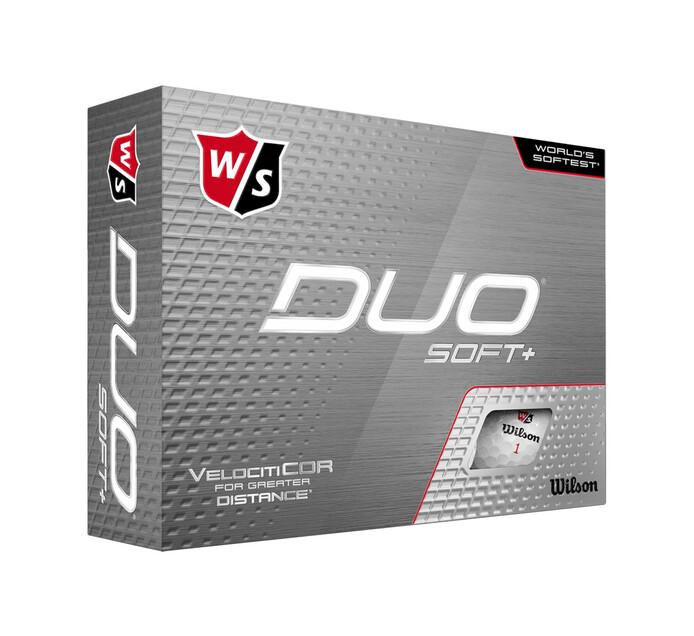Wilson Staff Duo Soft+ Golf Balls 12-Pack White