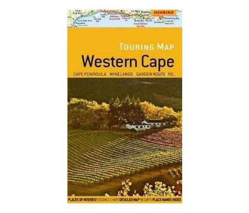 Touring map Western Cape : Cape Peninsula / Winelands / Garden Route / P.E.
