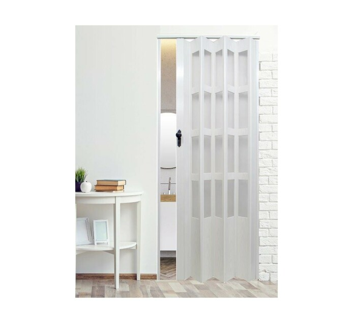 DELUXE 2030mm x 820mm Deluxe Folding Door With Glass Panels