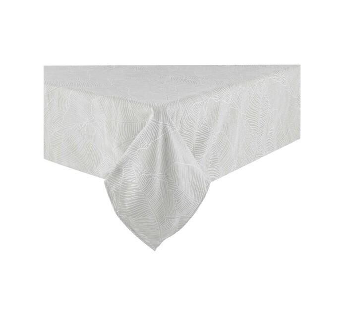Sheraton 180 x 290 cm Leaf Table Cloth Grey