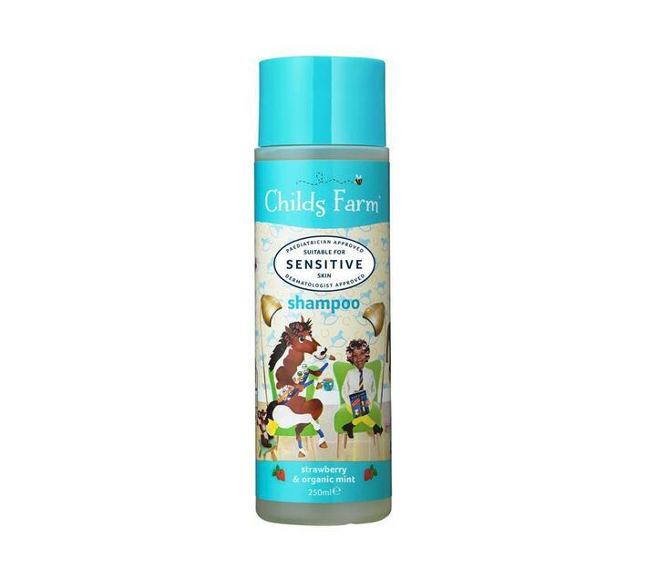 Shampoo, strawberry & organic mint 250 ml