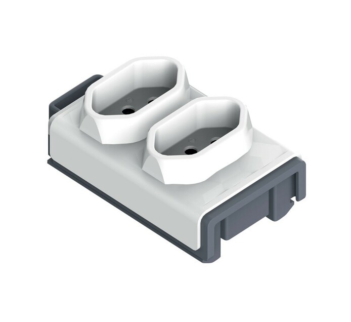 Allocacoc 2 X 3 pin Powerstrip Module 2 X 3 Pin Sockets