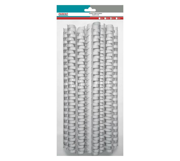 PARROT PRODUCTS Plastic Binder Combs (220 Sheet, 25mm, White, 25 Units)