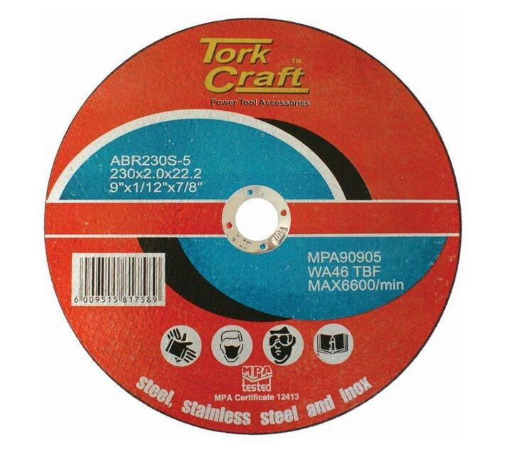 CUTTING DISC FOR STEEL AND STAINLESS STEEL 230 X 2.0 X 22.2MM