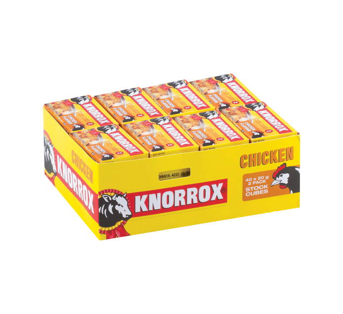 Knorrox Stock Cubes 2pk Chicken (1 x 40's)