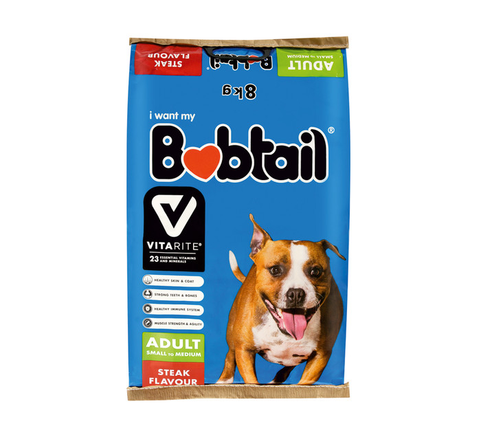 Bobtail Dry Dog Food Small Steak (1 x 8kg)