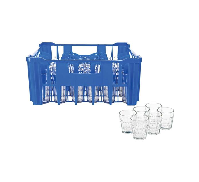 Regent 30's Hiball Glasses in Blue Crate plus 6 Free Shooters