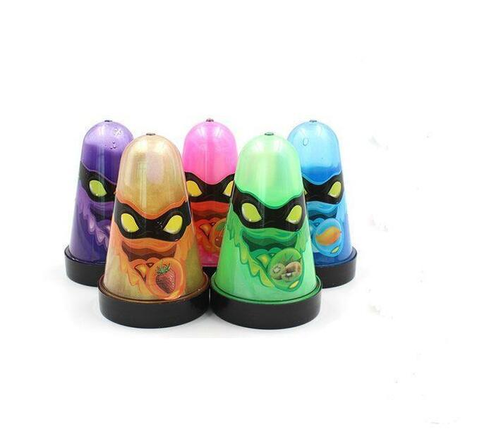 Monster Ninja Crystal Glitter Slime - Set of 5