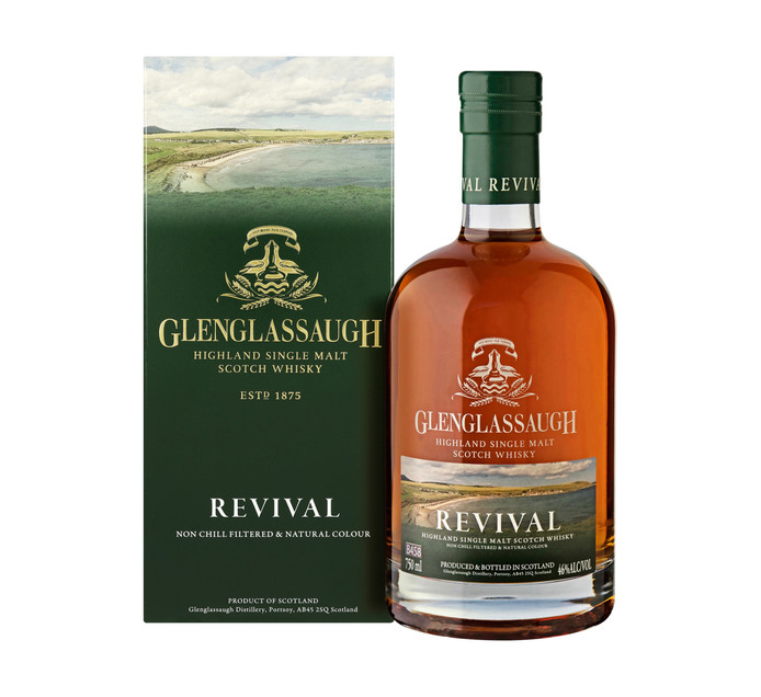 Glenglassaugh Revival Single Malt Scotch Whisky (1 x 750ml)