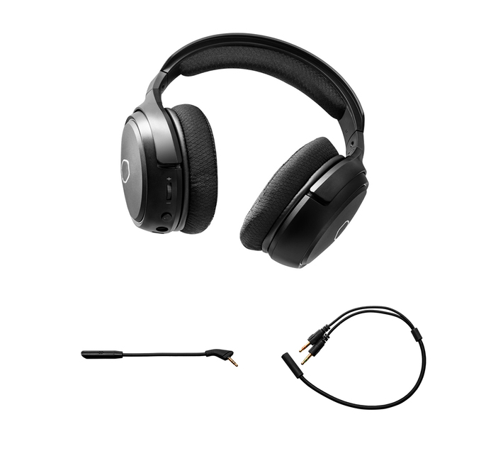 COOLER MASTER MH-630 3.5MM AUX GAMING HEADSET WITH DETACHABLE OMNI-DIRECTIONAL BOOM MICROPHONE - BLACK