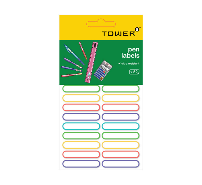 Tower Ultra Resistent Pen Labels Each