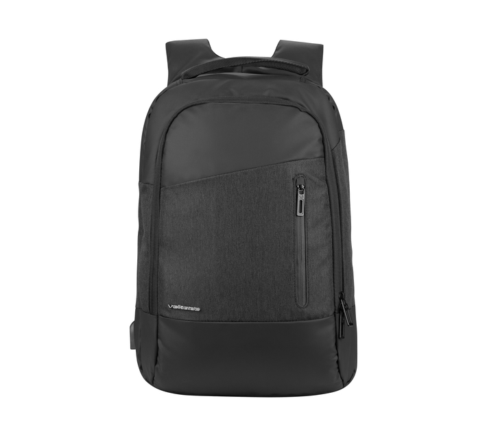 Volkano Refine Series 15.6 (39.6 cm) Backpack in Black With Rear Passport Holder and Integrated Usb Charging Port