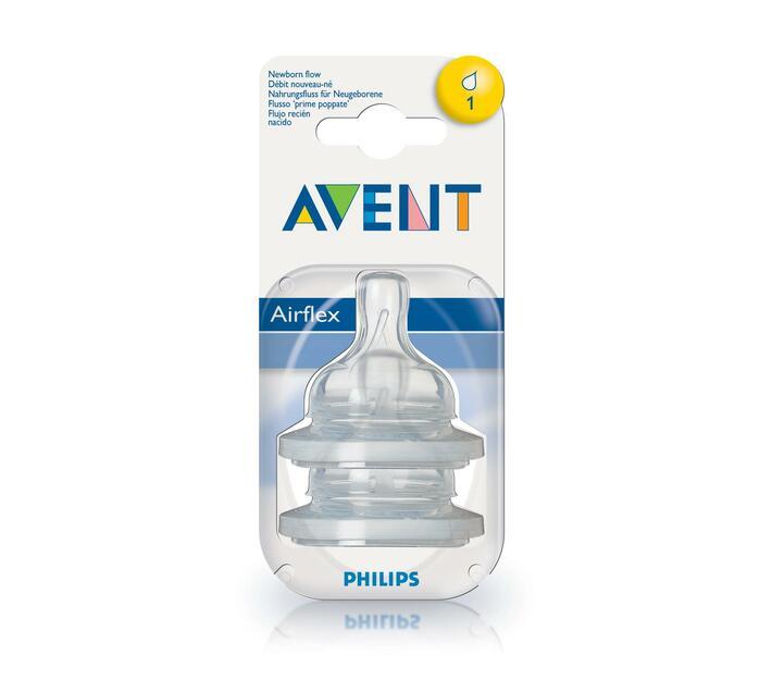 Teat - silicone -0 month+ 2 units airflex newborn
