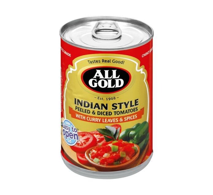 All Gold Diced Tomato Indian Style (12 x 410g)