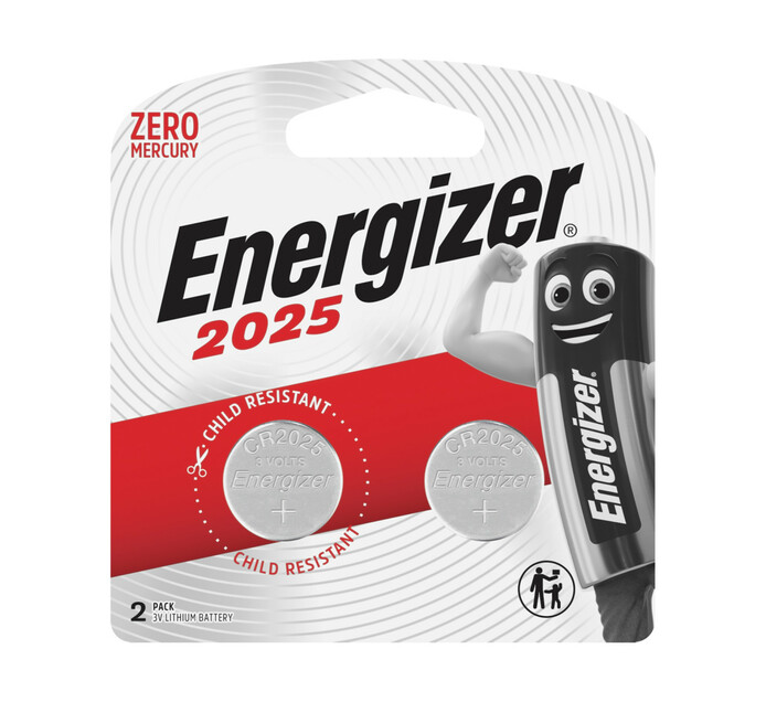Energizer Lithium Coin Battery 2025BS2 2-Pack