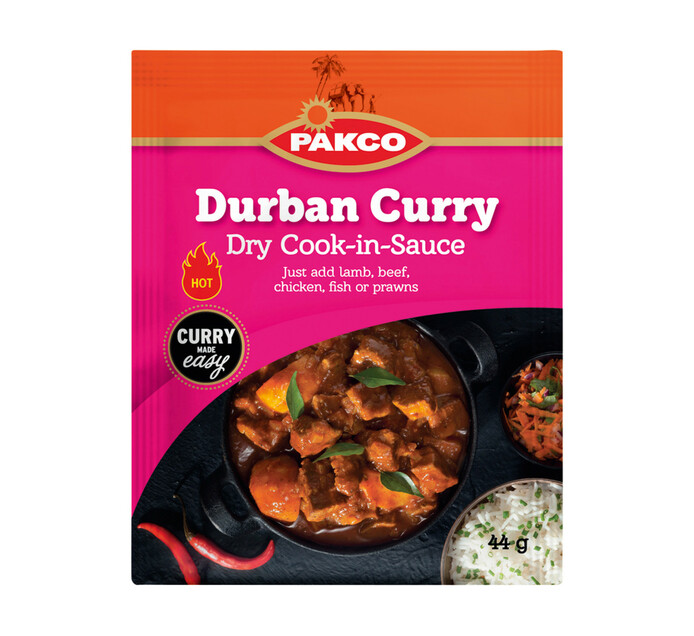 Pakco Dry Cook In Sauce Durban Curry (1 x 44g)