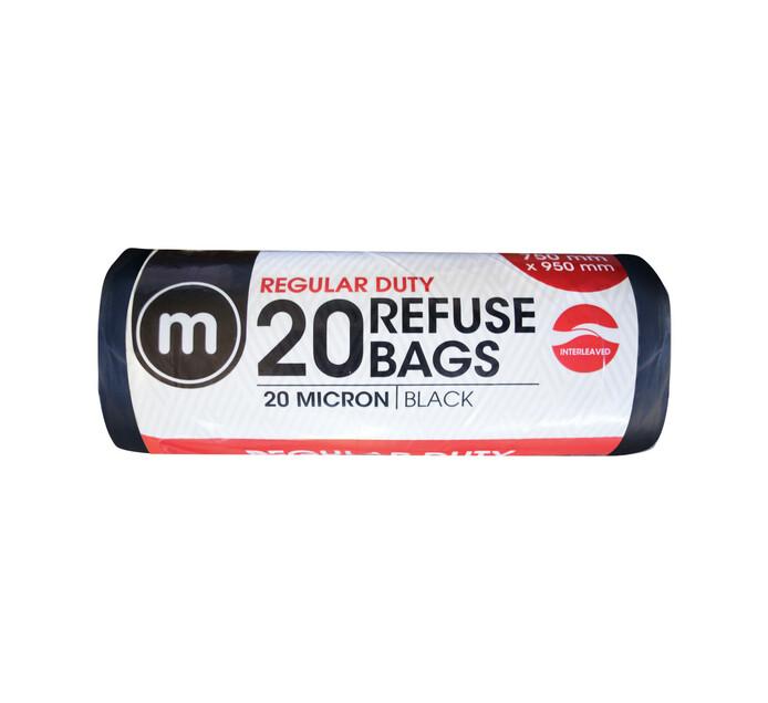 M Black Refuse Bags Regular Duty (1 x 20's)