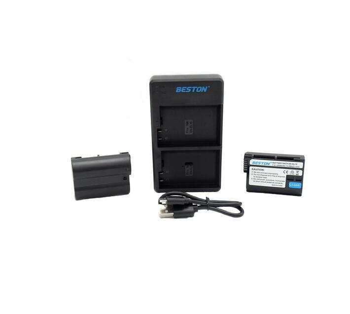 Beston USB Dual Charger and 2 Battery Kit for Nikon EN-EL15