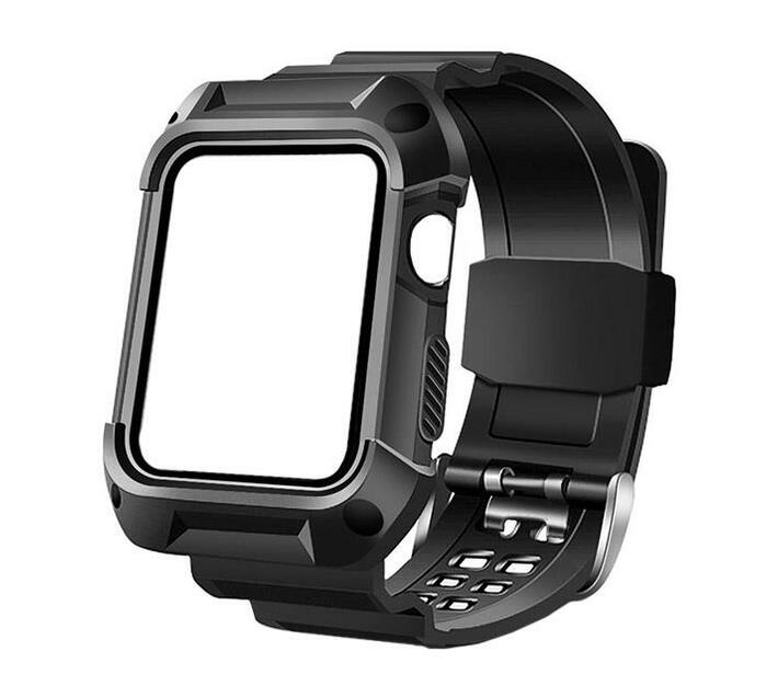 Zonabel Rugged Strap for 42mm Apple Watch - Black TPU