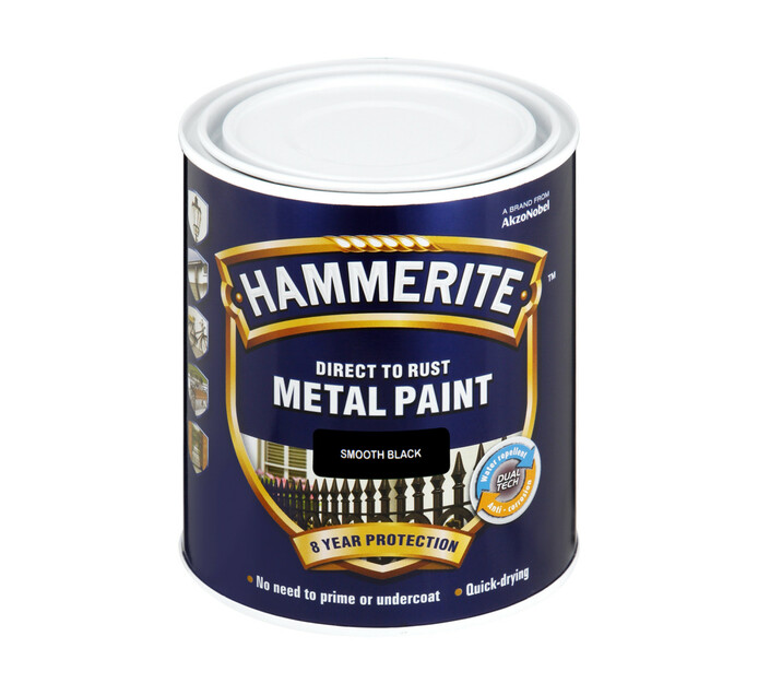 Hammerite 1L Metal Paint Black