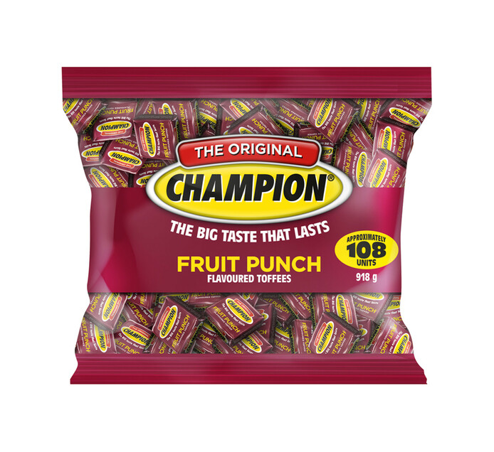 Champion Toffee Bag Fruit Punch (1 x 918g)