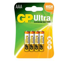 GP Ultra Alkaline AAA Card of 4