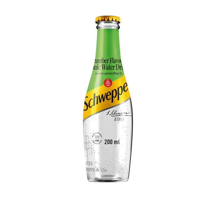 Schweppes Tonic Water Bottle Cucumber (4 x 200ml)