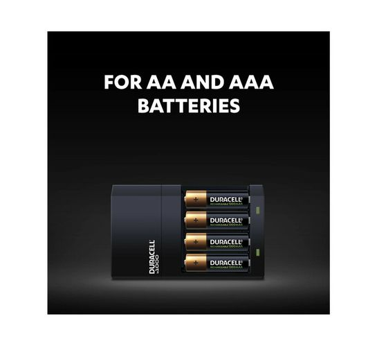 Duracell Charger Ready in 4 HR + 2 AA and 2 AAA Batteries