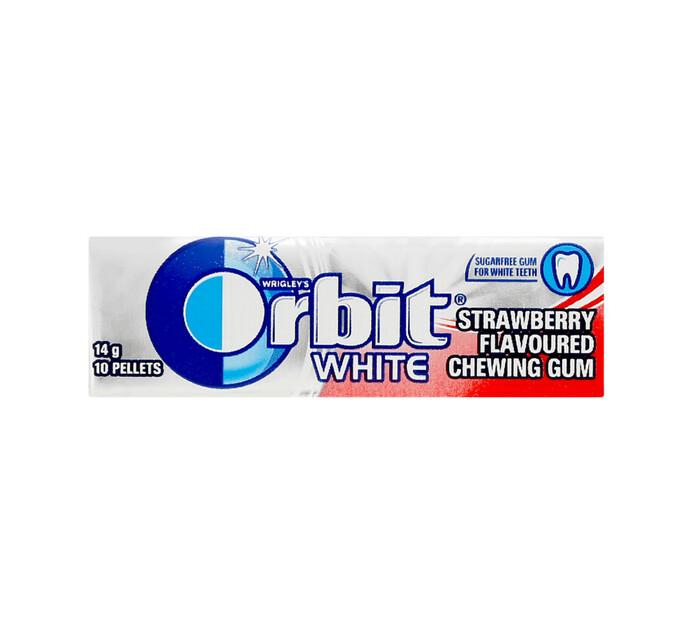 Orbit Gum Pellet Pack White Strawberry (1 x 10's)
