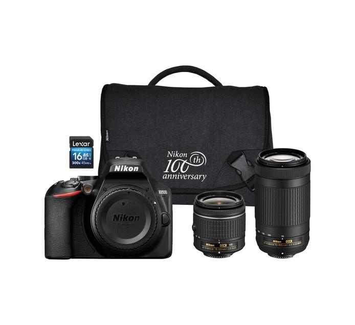 NIKON D3500 DSLR Twin lens Camera Bundle
