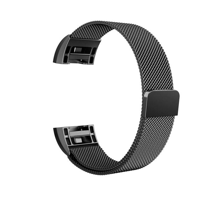 Linxure Milanese Strap for Fitbit Charge 2 Black - Small