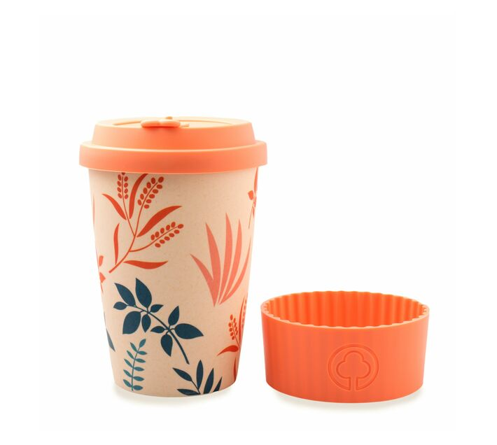 Bamboo Eco Cup 400ml Flowers