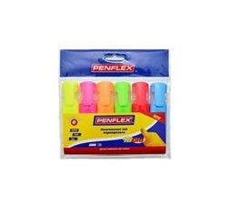 Higlo highlighters.Pouch of 6.Assorted colours