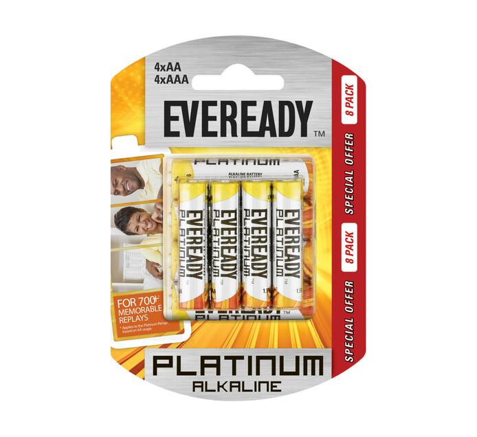 Eveready Platinum Batteries 8-Pack