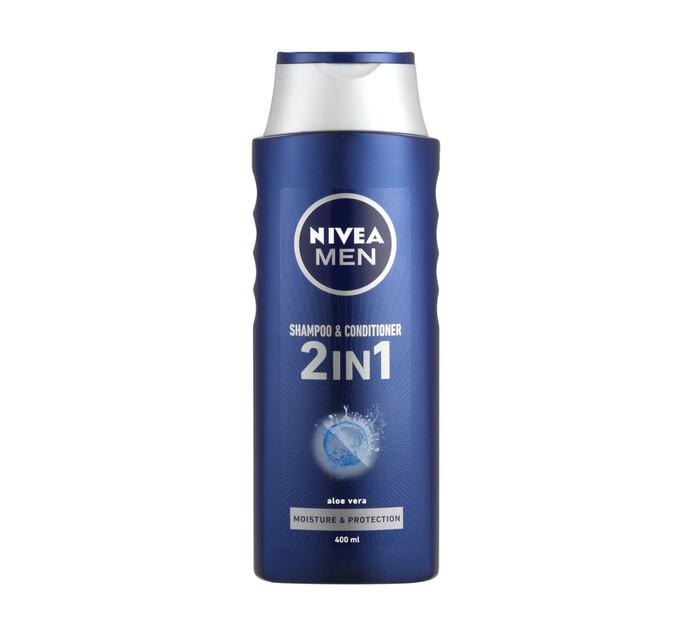NIVEA Men Hair Shampoo 2In1 Protect and Care (1 x 400ml)