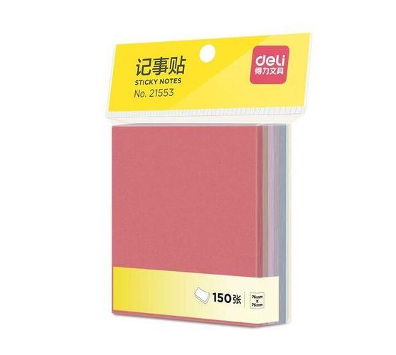 """Deli Stationery Sticky Note 76*76Mm, 3X3"""",150 Sheet/Pad Asst."""