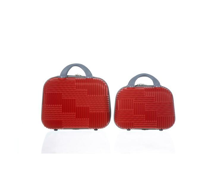 2 Piece Carry Handbag-Red