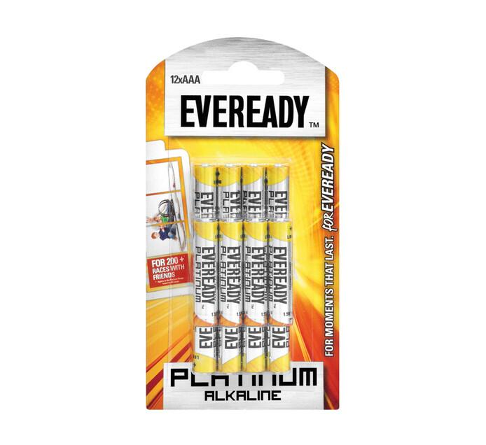 Eveready Platinum Alkaline AAA Batteries 12-Pack