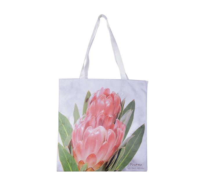 Tote Bag made with canvas with a Portia print.
