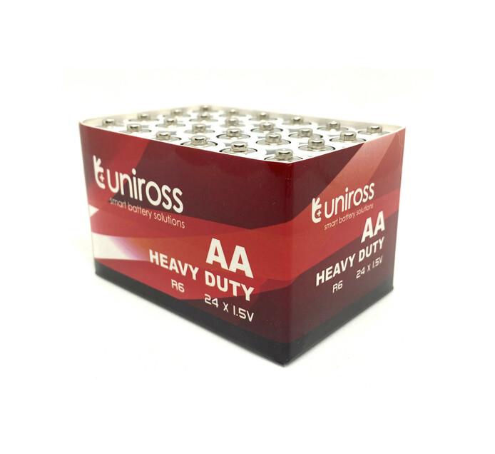 Uniross Heavy Duty 24PK AA Batteries