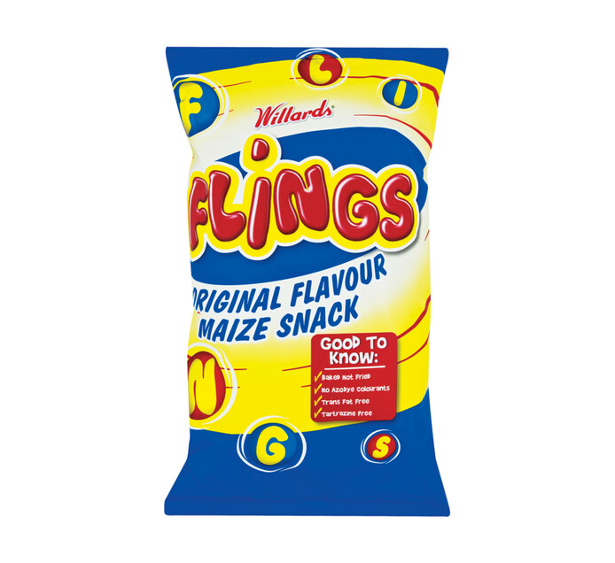 Willards Flings Maize Snacks (16 x 150g)
