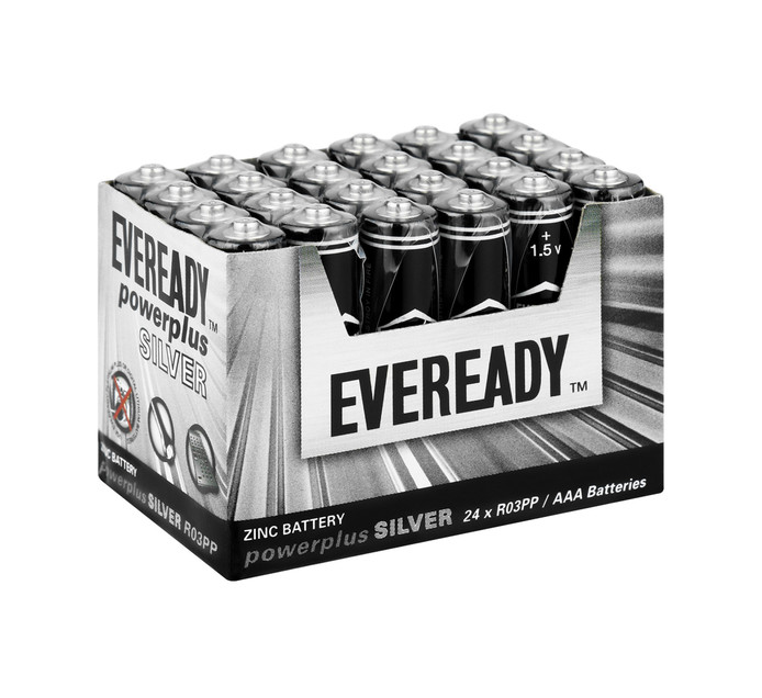 Eveready Power Silver AAA Batteries 24-Pack