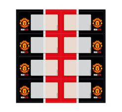 Manchester United Self-Adhesive Labels 16-Pack