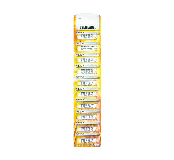 Eveready Alkaline AA Large Strips 10-Pack