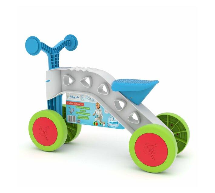 CHILLAFISH ItsiBitsi Toddler 4-wheel Ride-on Balance Bike