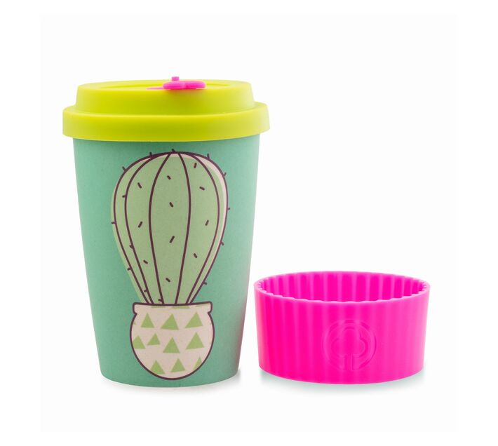 Bamboo Eco Cup 400ml Cactus