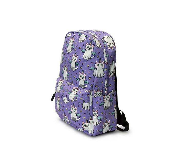 Kids Backpack - Unicorn Cat - Lilac