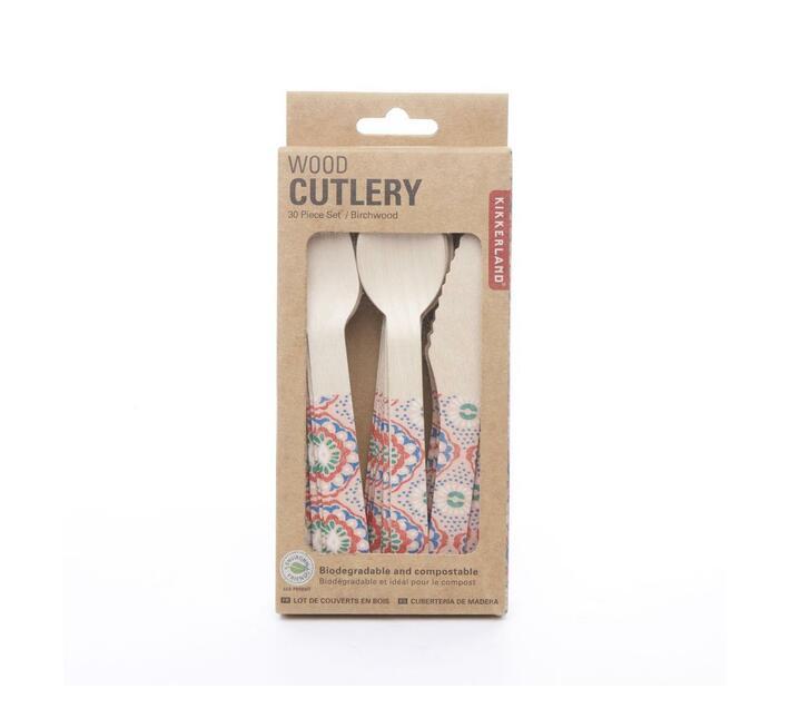 Wood Cutlery - Mandala