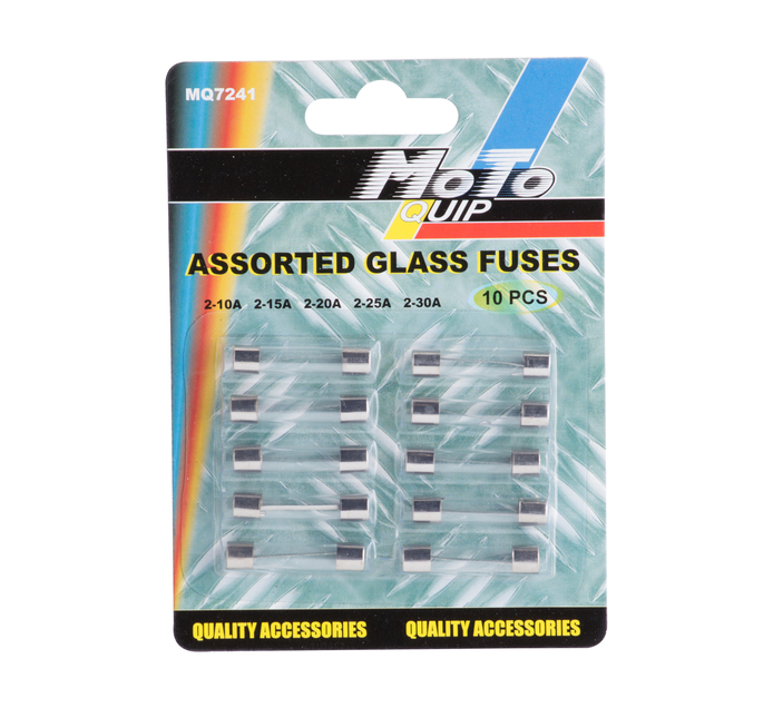 discount clearance prices on sale MOTO-QUIP 10 Piece Glass Fuses Assorted